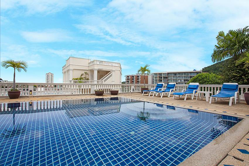Communal pool access at Manuae Condo 102 Phuket