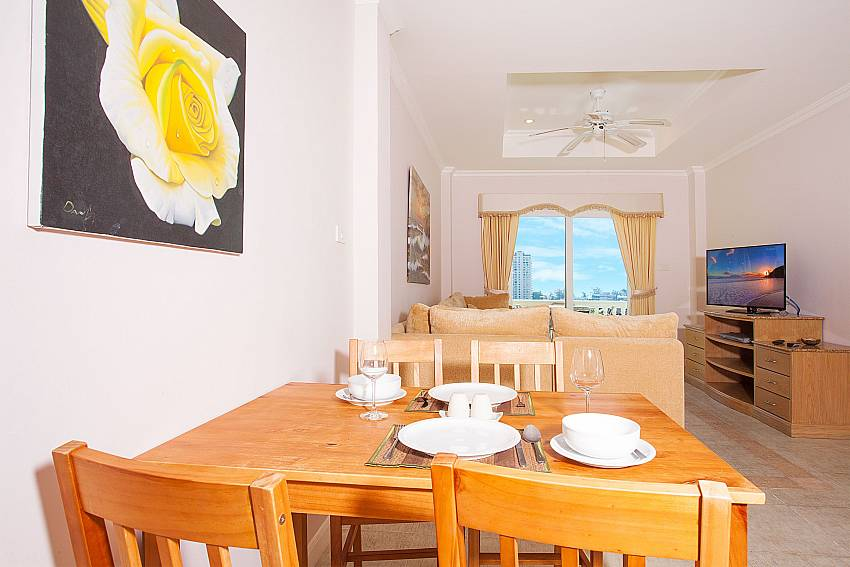 Dining table with 4 chairs at Manuae Condo 102 Karon Phuket