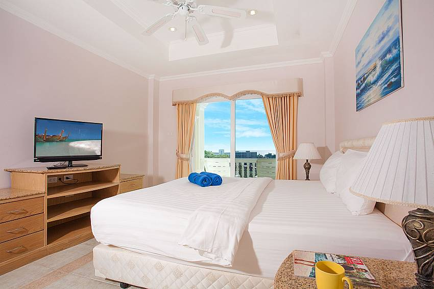 Great view from king size bedroom at Manuae Condo 102 Phuket