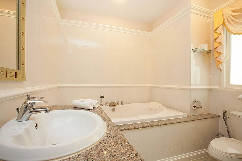 Modern bathroom at Manuae Condo 102 in Karon Phuket