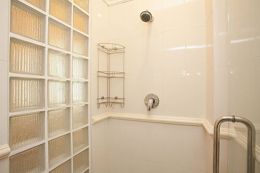 Shower in bathroom at Manuae Condo 102 Karon Phuket