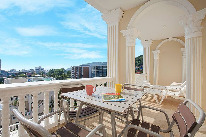 Private balcony at Manuae Condo 102