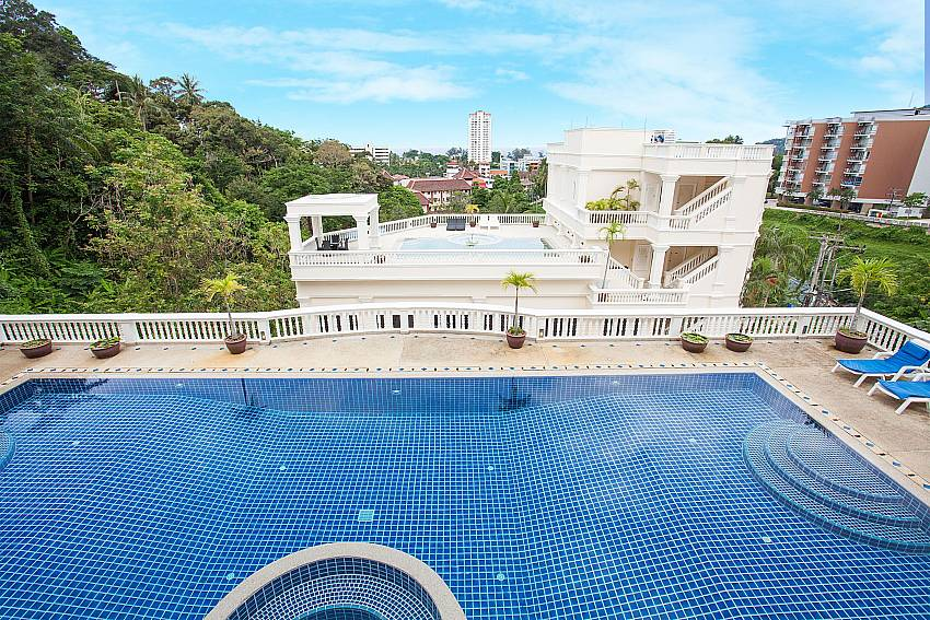 Communal pool with great views at Manuae Condo 201 Phuket