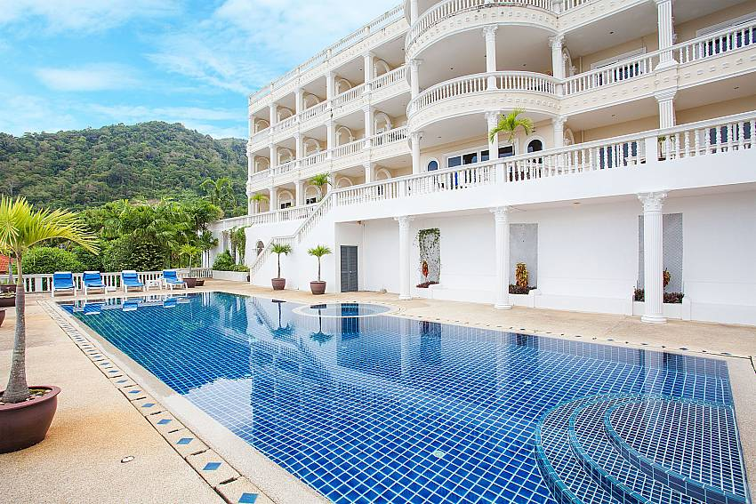 Manuae Condo 201 with communal pool in Karon Westphuket