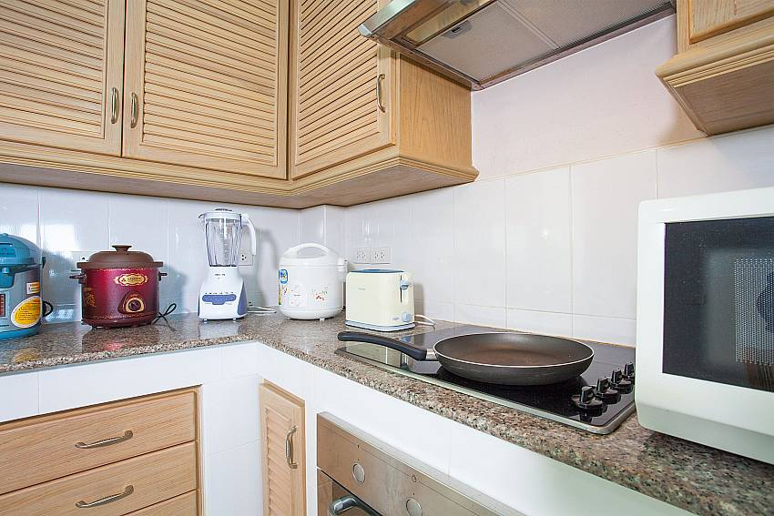 European style equipped kitchen of Manuae Condo 201 in West Phuket