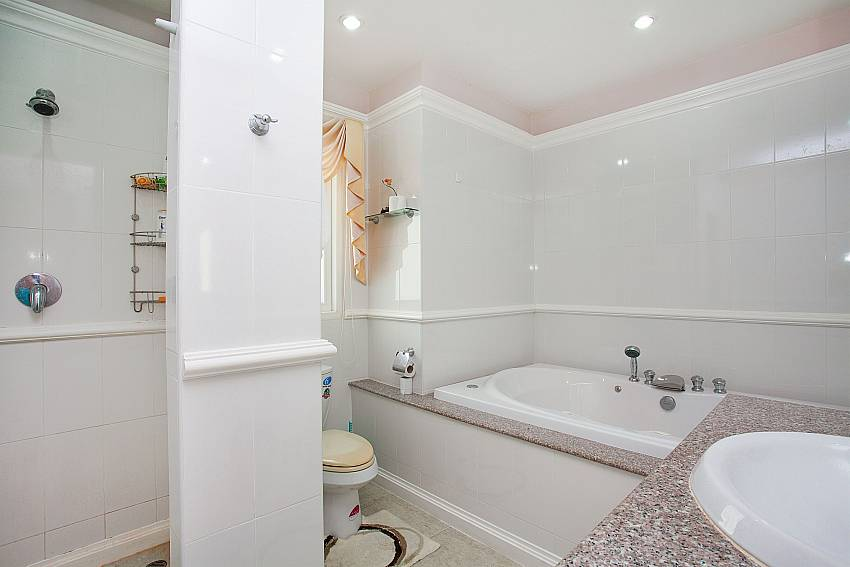 En suite master bathroom at Manuae Condo 201 in Phuket