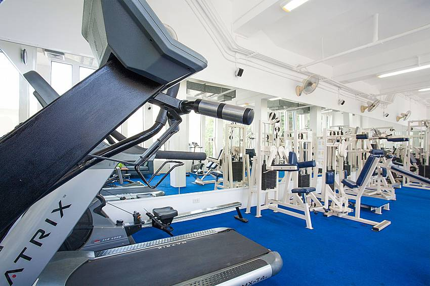 Modern equipped gymnasium in Manuae Condo 101 Phuket