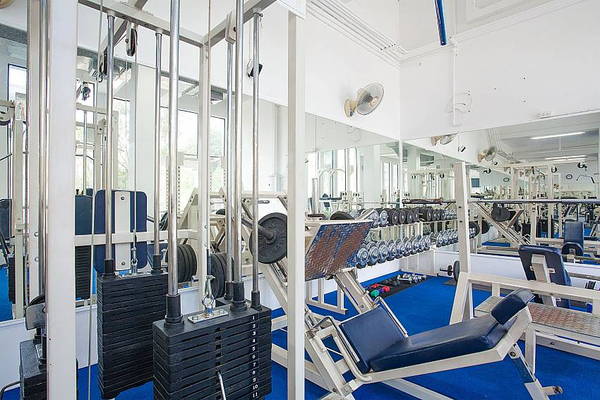 Communal gym at Manuae Condo 101 in Karon Westphuket