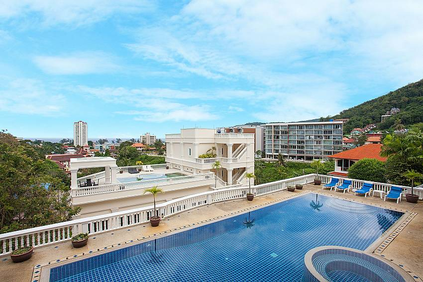 Communal pool with sea view at Manuae Condo 101 West-Phuket
