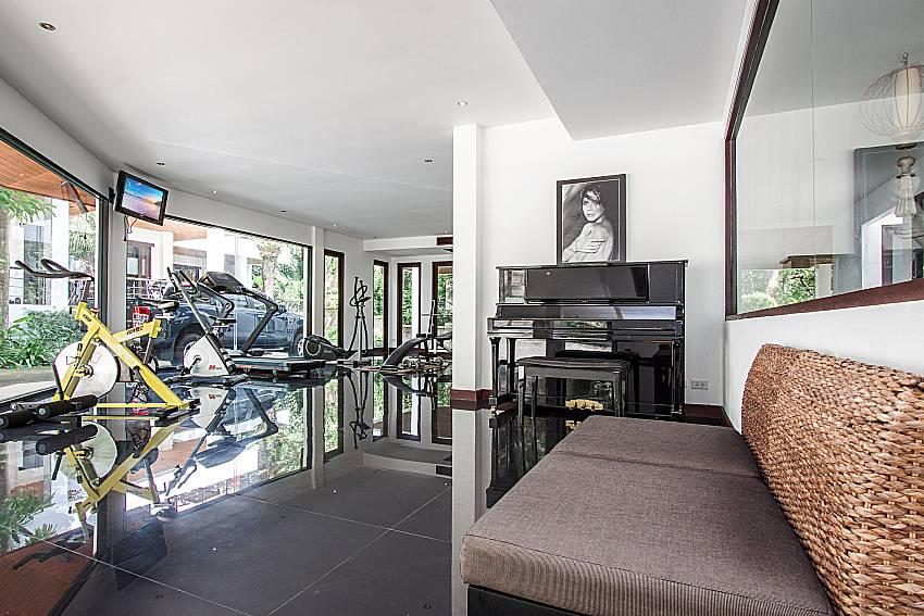 Fitness room at the resort of Nirano Villa 26 in Central Phuket