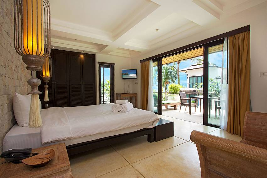 Direct access to the terrace from master bedroom in Nirano Villa 26 Phuket