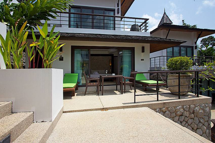 Terrace and balcony at Nirano Villa 26 in Central Phuket