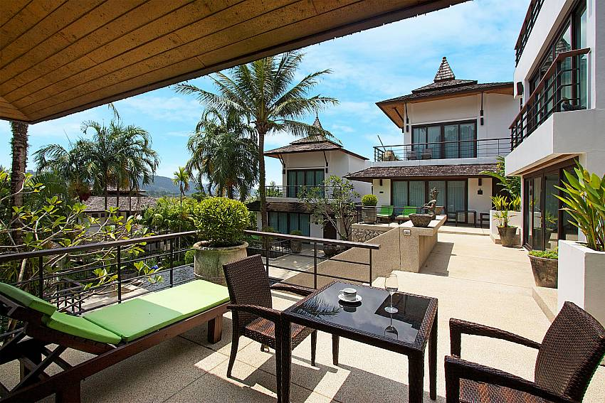 Terrace of Nirano Villa 26 in Kathu Central Phuket