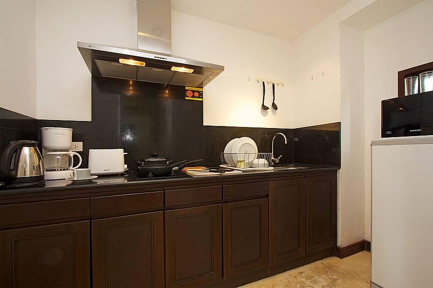 Fully equipped kitchen at Nirano Villa 26 in Kathu Phuket