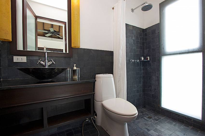 Guest bathroom ensuite at Nirano Villa 26 in Central Phuket