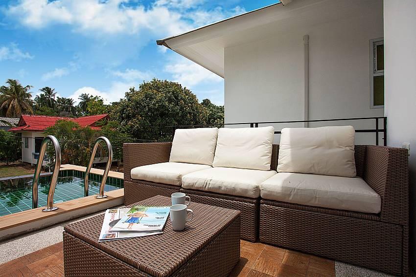Private pool terrace with sitting at Villa Inigo No.2  in Samui Thailand