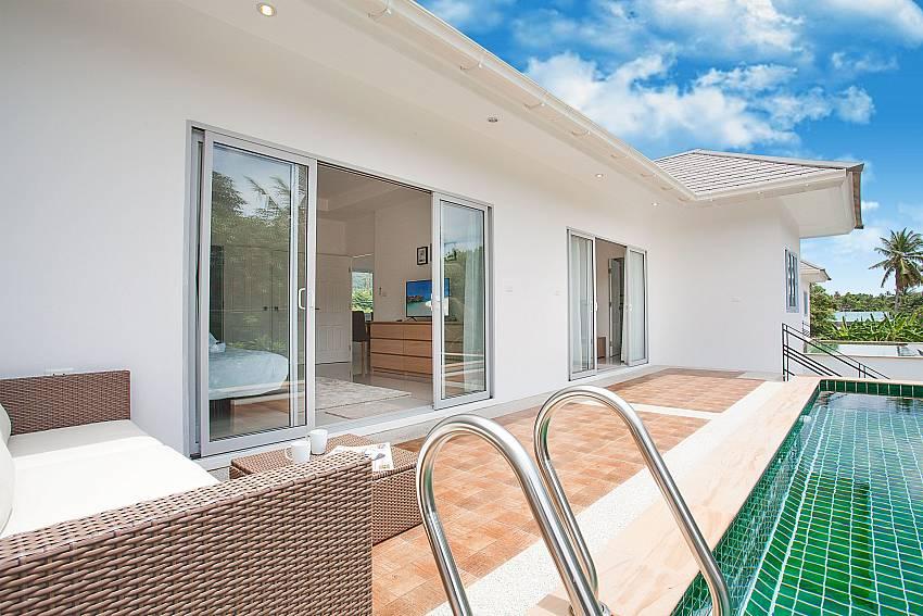 Direct pool access from bedroom at Villa Inigo No.2 in Samui Thailand
