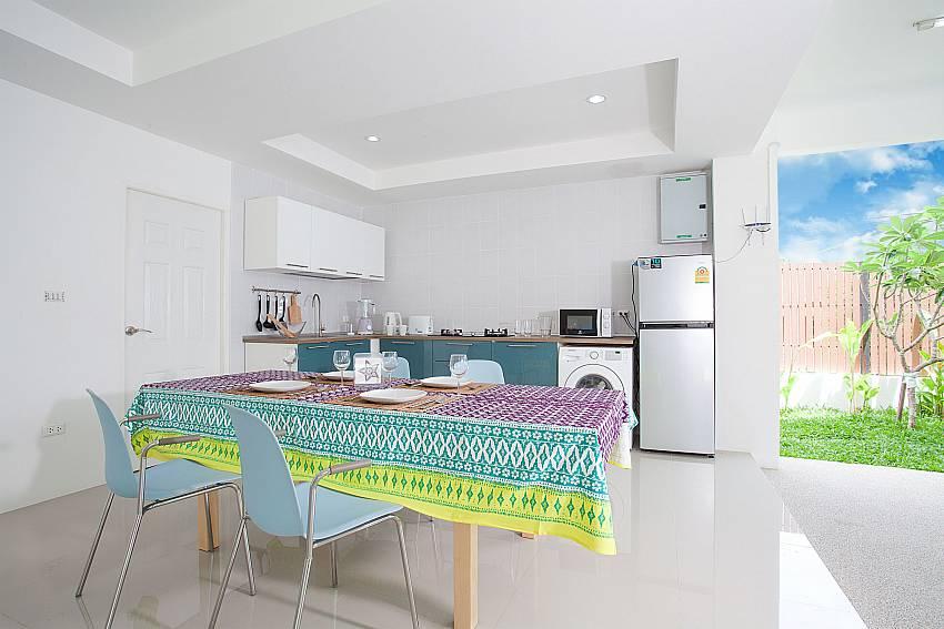 ground floor kitchen at Villa Inigo No.2 Choengmon Koh Samui
