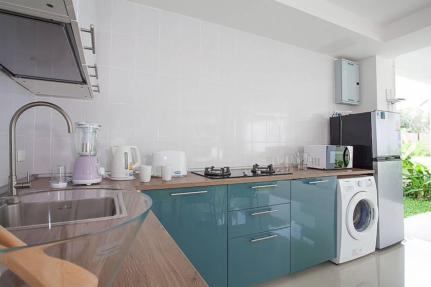 European style kitchen at the ground floor of Villa Inigo No.2 Samui Thailand