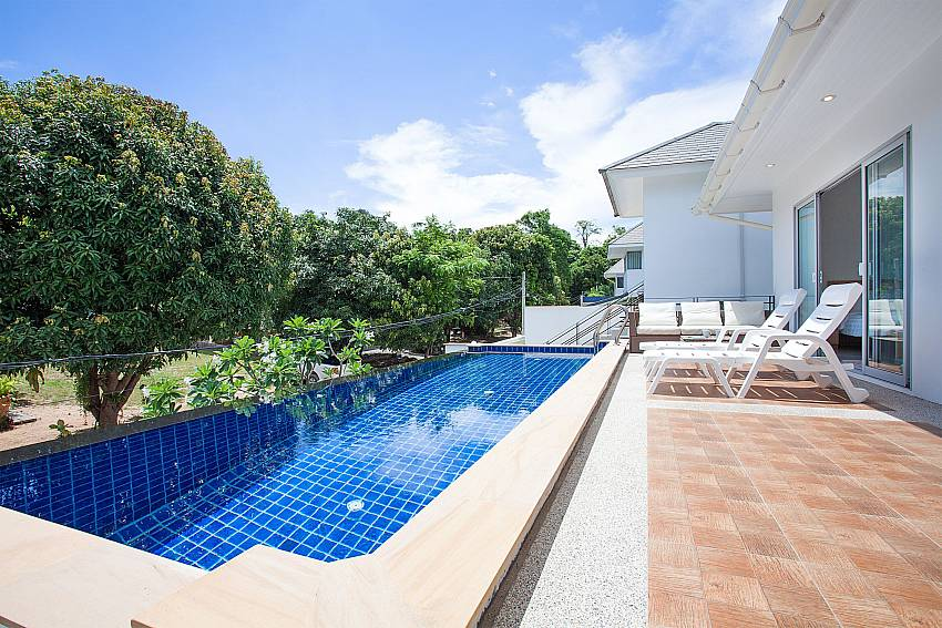 Private pool with sun terrace at Villa Inigo No.3 Choengmon Koh Samui