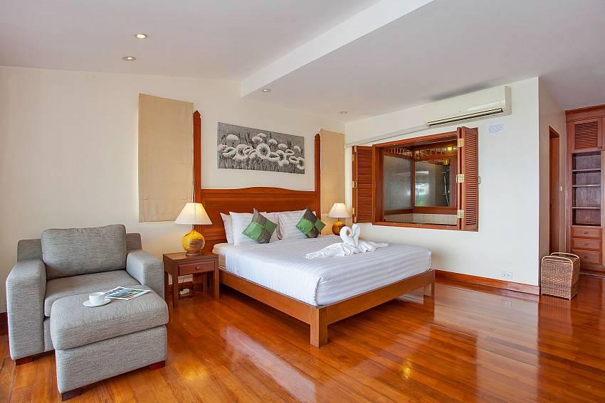Villa Balie first double bedroom at Sunset beach Phuket