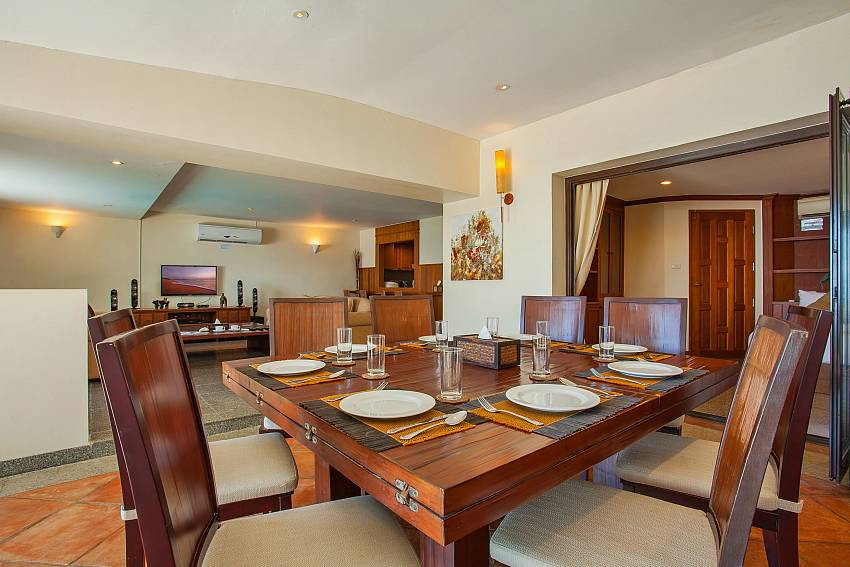 Villa Balie open plan dining and living room West Phuket