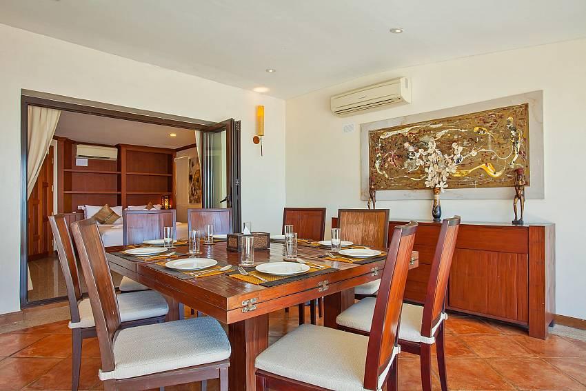 Villa Balie  with dining table at Kalim Beach Phuket