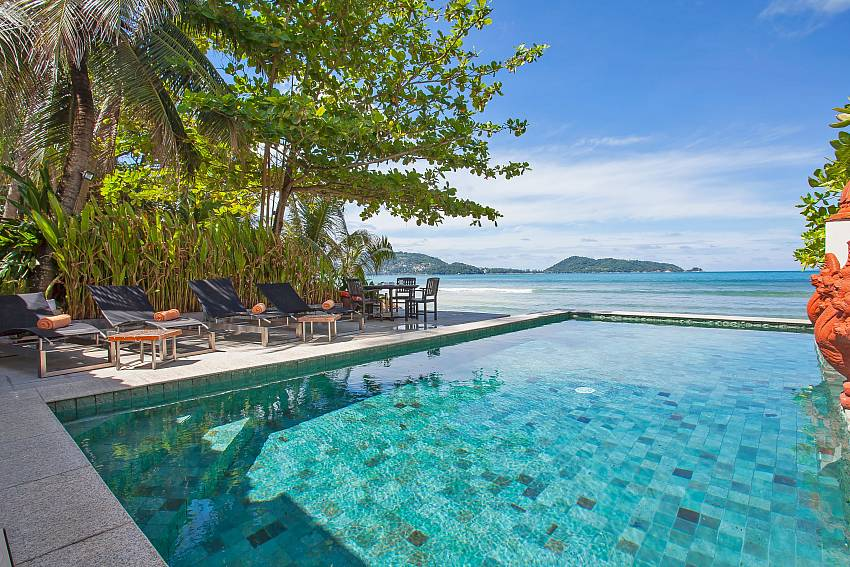 Private pool with sea view at Villa Balie West Phuket