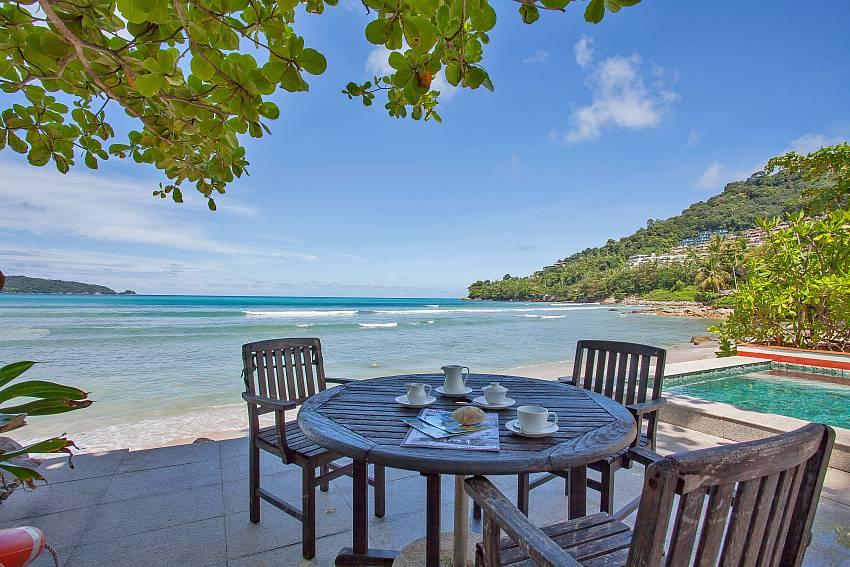 Villa Balie with Table and chars by the pool and beach Phuket
