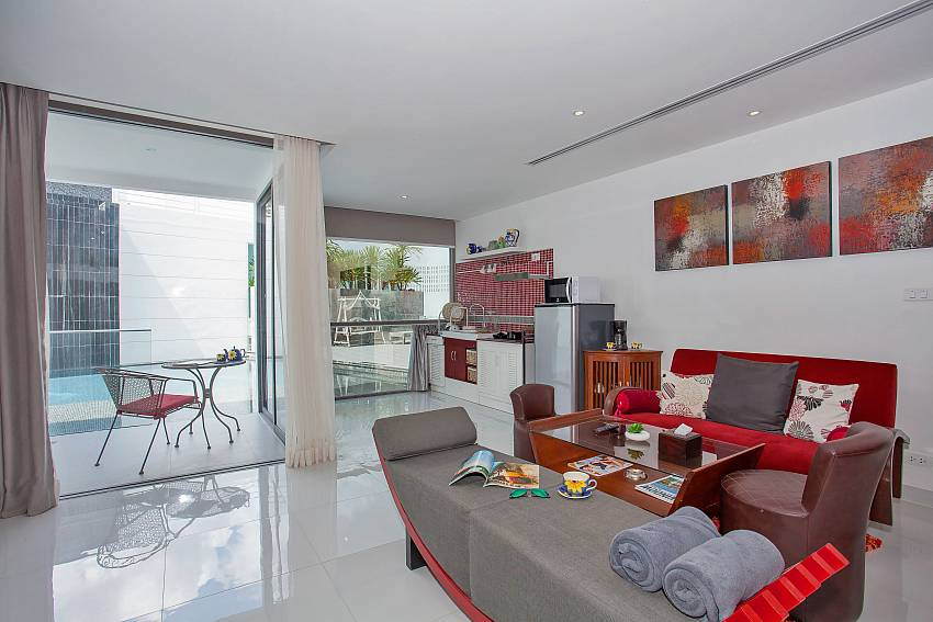 Living with direct pool access at Sadhay A2 Condo Phuket