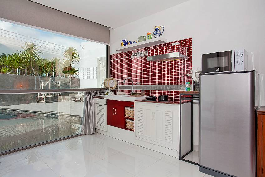 Modern kitchen in 1 bedroom Sadhay A2 Condo Patong Phuket