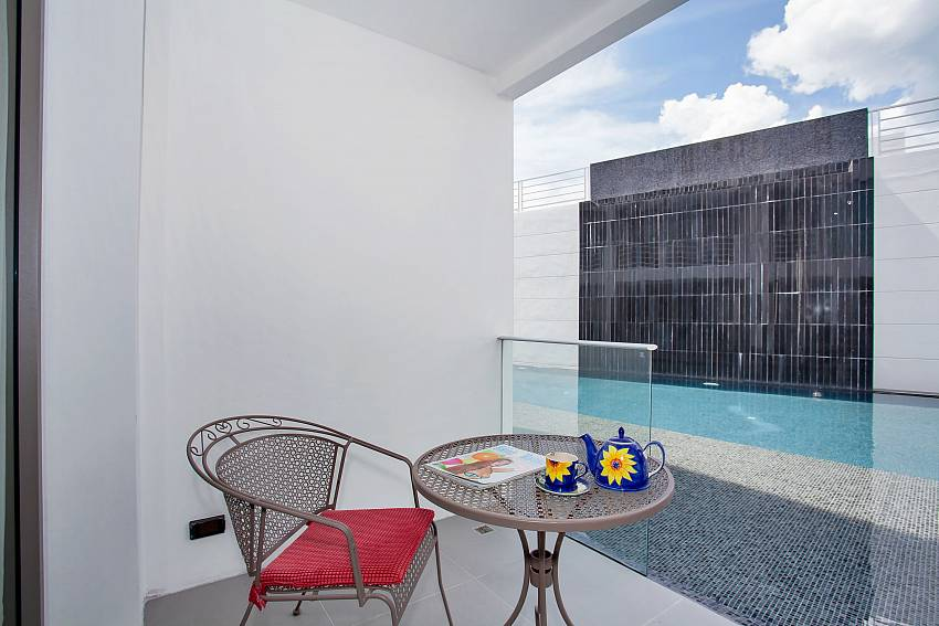 Terrace and communal pool in Sadhay A2 Condo Patong Phuket