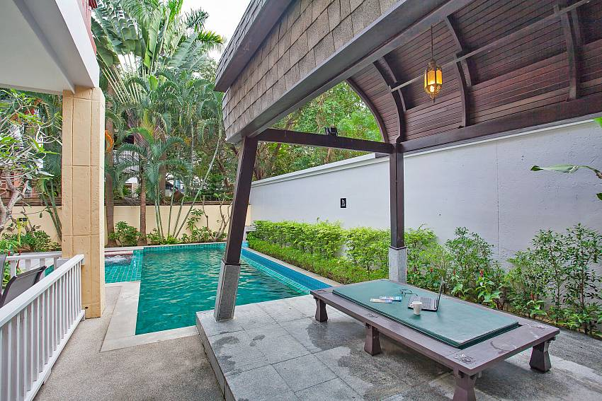 pool area of Rustic Gold Villa in south pattaya
