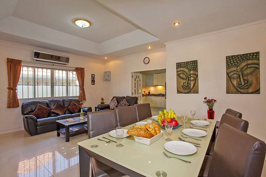 open plan living and dining area of Baan Kinara Pattaya