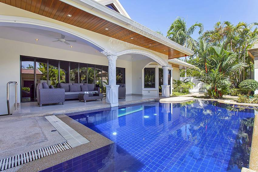 Private Pool for a refreshing swim at Pattaya Presidential Villa close to Jomtien beach