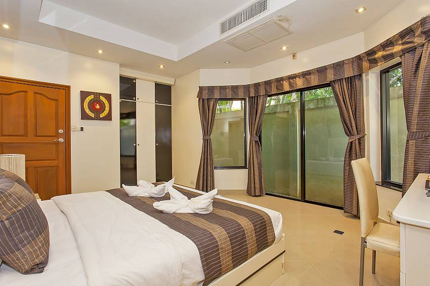 The 3. bedroom at Pattaya Presidential Villa has a double bed