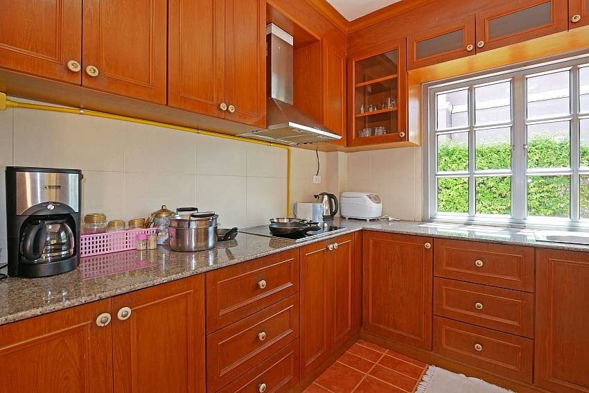 european style equipped kitchen at south pattaya Villa Amiya in Jomtien