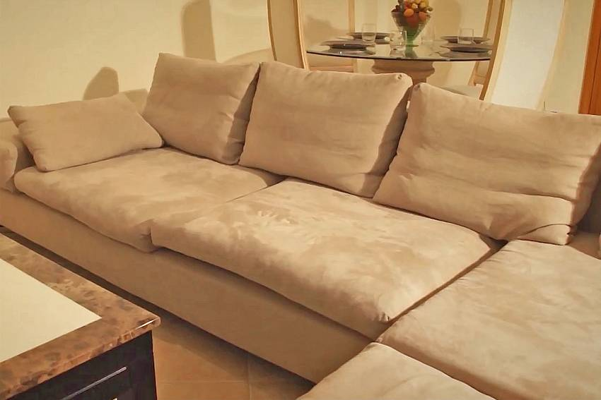Comfy sofa at the living room in Baan Tawan One Pattaza