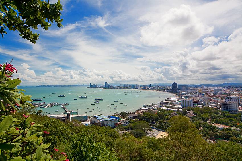 Great view over Pattaya from Pratumnak Hill, near Baan Tawan One