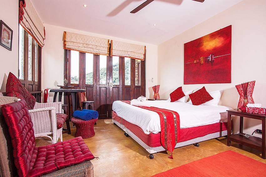 First bedroom with comfortable Of Villa Samoot Sawan