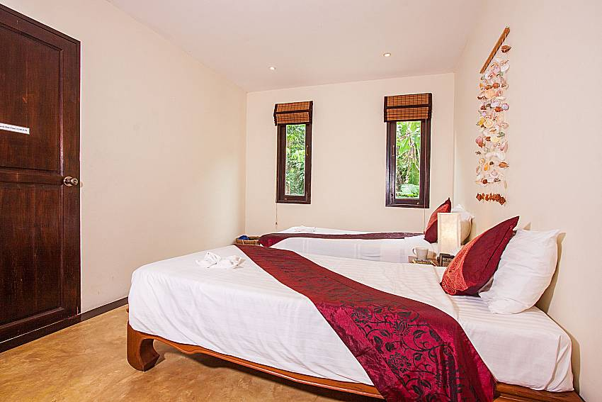 Twin Bedroom Of Villa Samoot Sawan