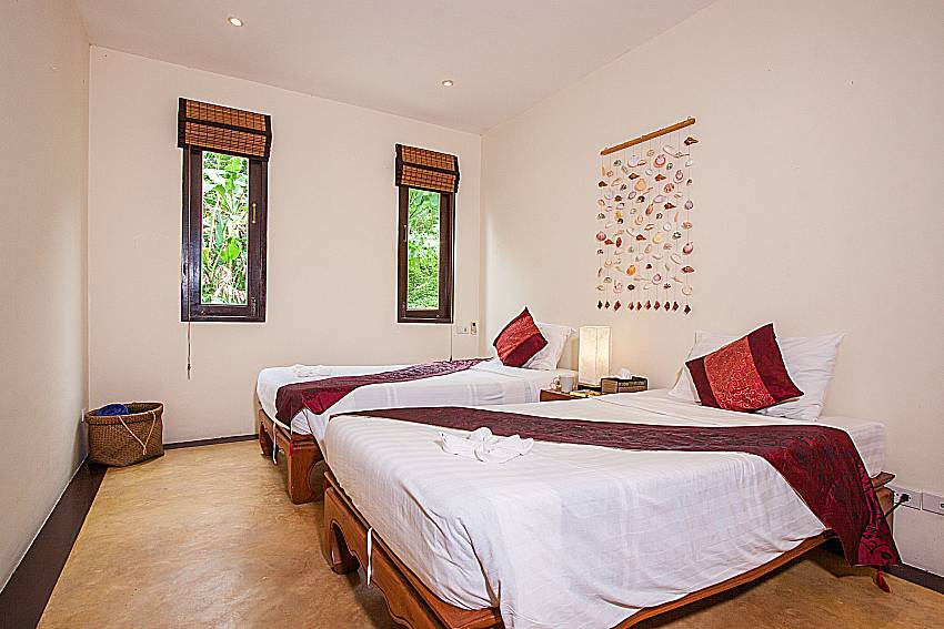 Twin Bedroom views Of Villa Samoot Sawan