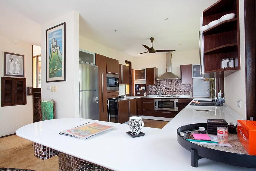 Spacious Kitchen Of Villa Samoot Sawan