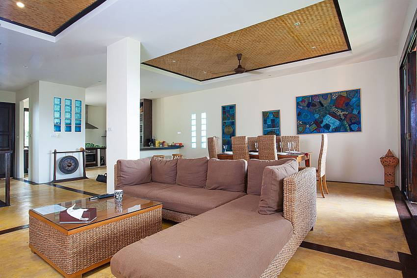 Open plan living area at Baan Pa Nom in Karon West Phuket