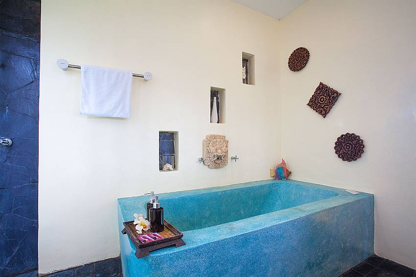 bath tub in master bathroom of Baan Pa Nom West Phuket