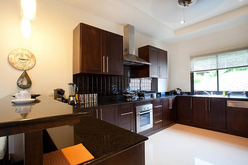 Fully equipped kitchen at Villa Kaimook Andaman in Nai Harn South Phuket