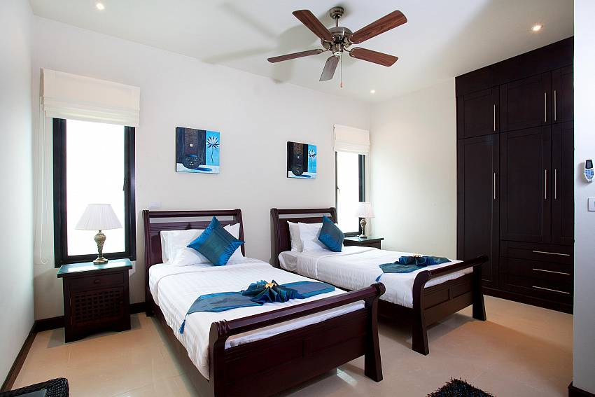 Twin Bed Room-villa-kaimook-andaman_6-bedroom_pool-villa_nai-harn_phuket_thailand