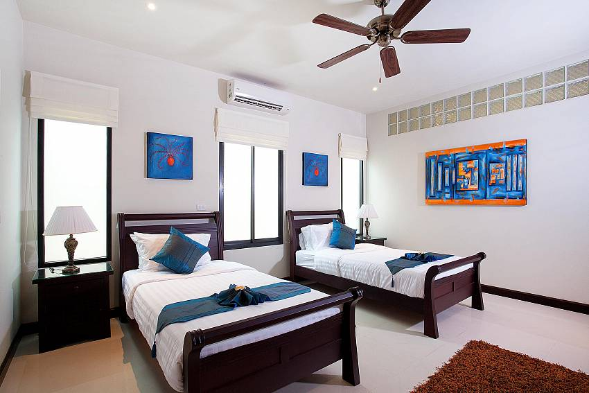 Second Twin-bed bedroom-villa-kaimook-andaman_6-bedroom_pool-villa_nai-harn_phuket_thailand