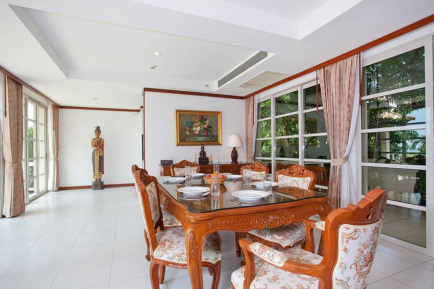 Airy dining area at Ruedi Villa in Phuket