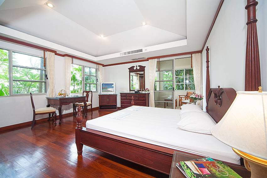 King size bedroom at Ruedi Villa above Kata beach Phuket
